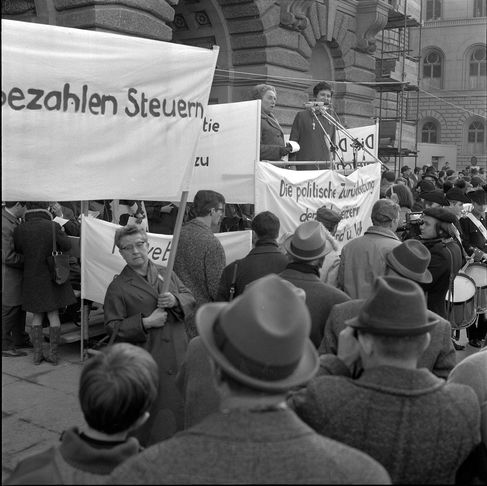 Marsch nach Bern für das Frauenstimmrecht, 1969