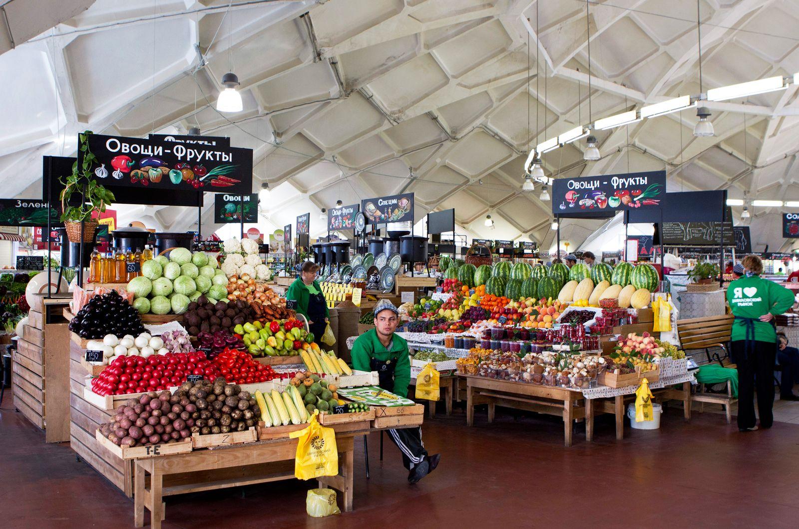 Russland / Markt / Obst Gemüse