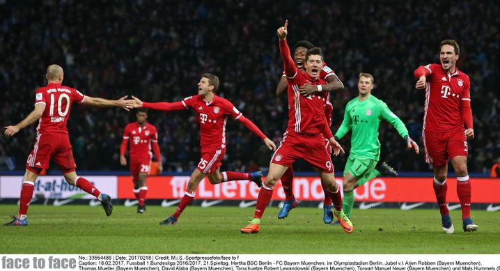 """Torjäger Lewandowski am 18. Februar in Berlin: """"Der FC Bayern muss sich etwas einfallen lassen"""""""