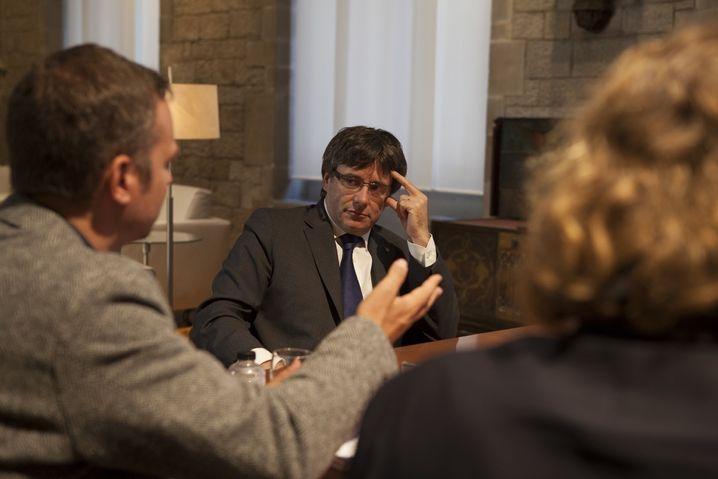 Puigdemont im Gespräch