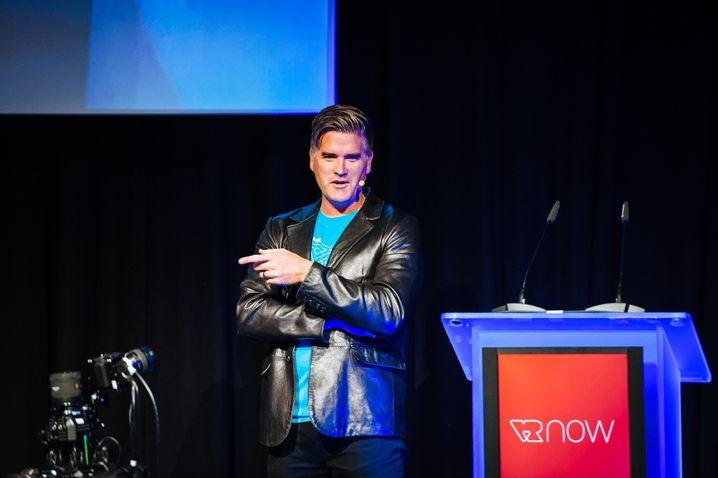 James Jensen auf der VR Now Con in Potsdam