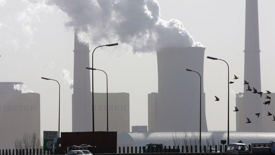 """Kraftwerk in Peking (2007): """"Die Fertigung verbraucht nun einmal Energie."""""""