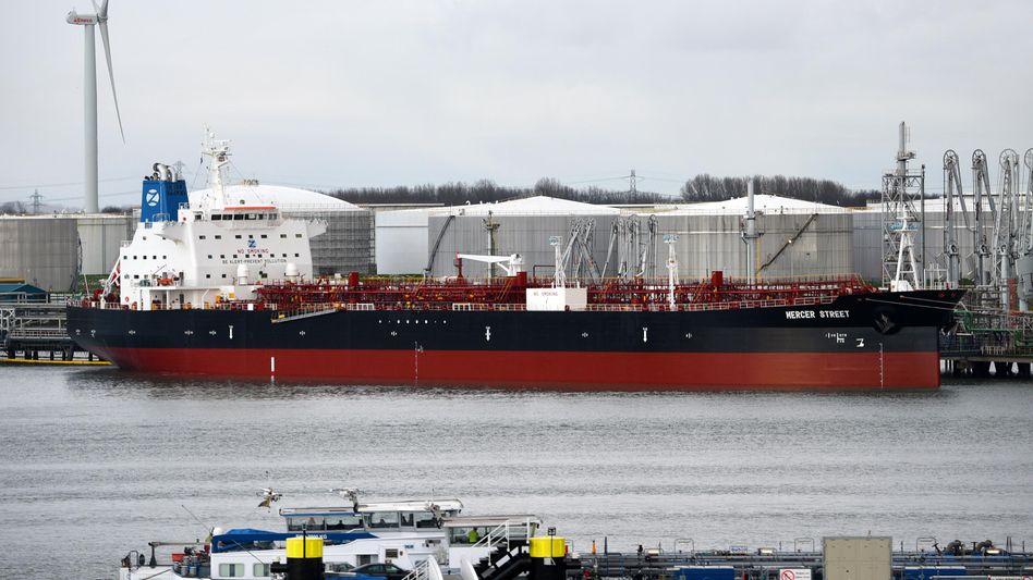 Öltanker »Mercer Street« (2017): Das Schiff wurde vergangene Woche im Indischen Ozean angegriffen