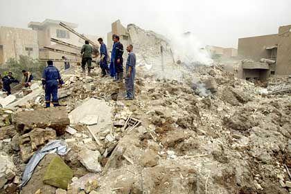 Bagdader Stadtteil Mansur nach Bombenangriff: Gezielte Attacken auf feindliches Führungspersonal