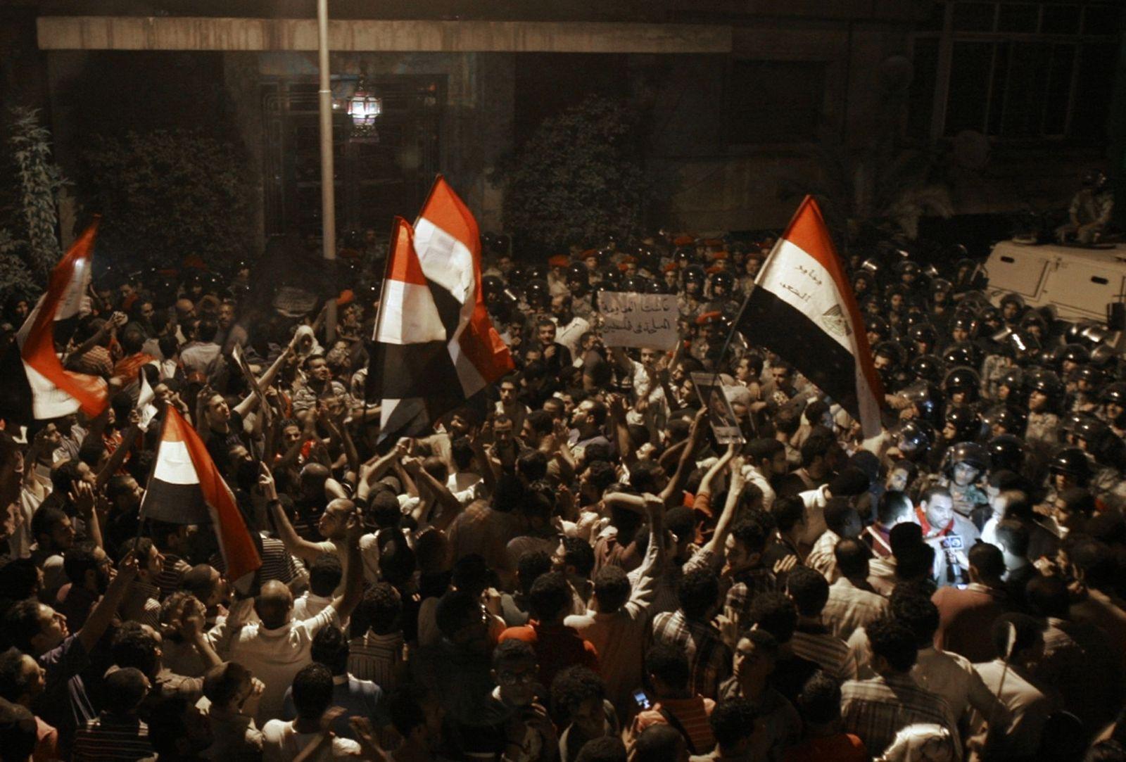 Ägyptischer Proteste israelische Botschaft