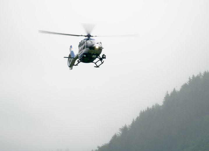 Polizei-Hubschrauber bei Oppenau