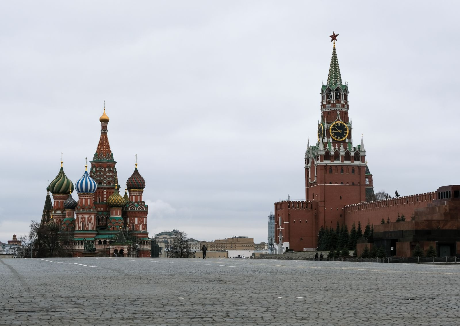 A view shows Red Square after the city authorities announced a partial lockdown to prevent the spread of coronavirus disease in Moscow