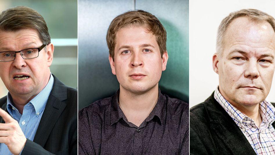 """SPD-Linke Ralf Stegner, Kevin Kühnert, Matthias Miersch: """"Wir haben mit der Union keinen Abo-Vertrag geschlossen."""""""