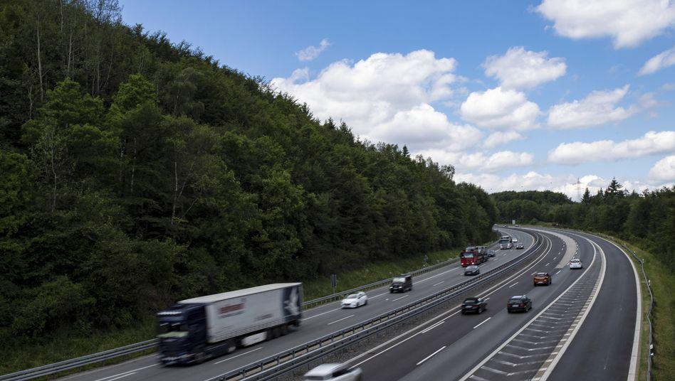 Autobahn A45 bei Siegen
