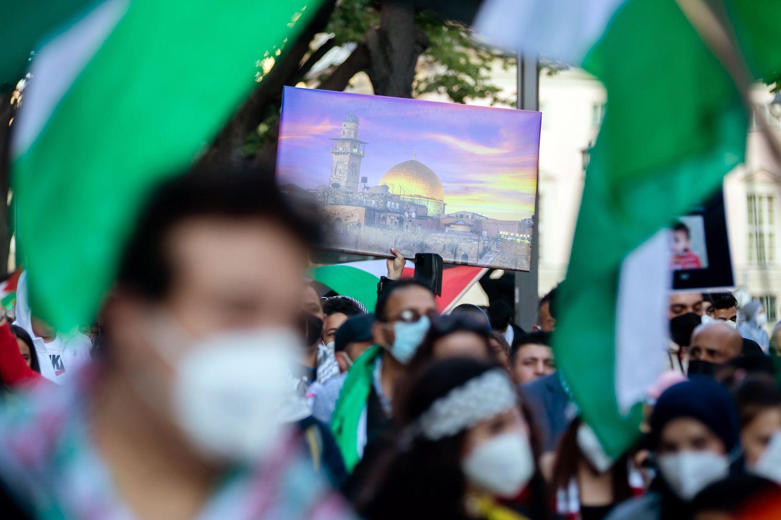 Pro-palästinensische Demonstration in Berlin