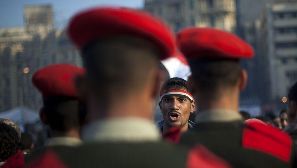 Auf dem Tahrir-Platz: Die Demonstranten wollen nicht weichen