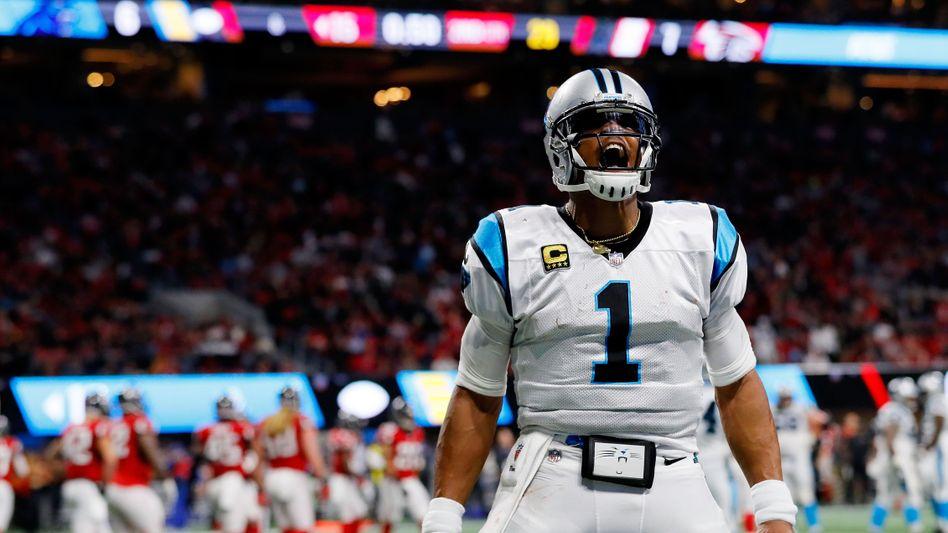 Exzentrische Jubel nach erzielten Touchdowns: Newtons Markenzeichen