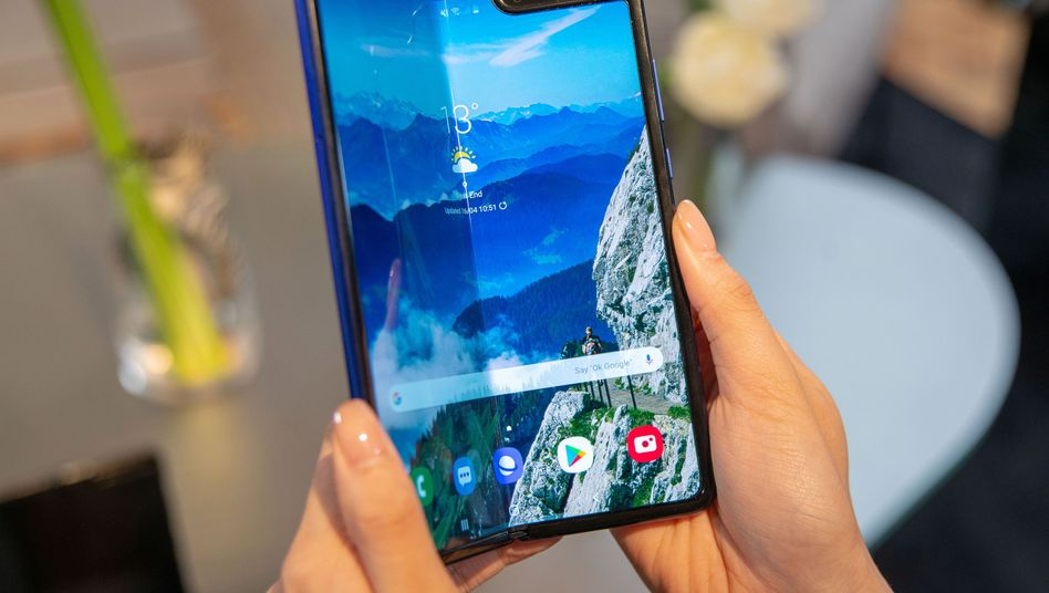 Samsung Galaxy Fold bei einer Pressevorführung