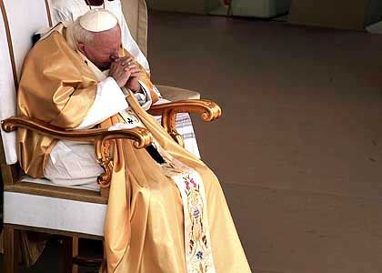 Papst Johannes Paul II.: Demütigung der Palästinenser