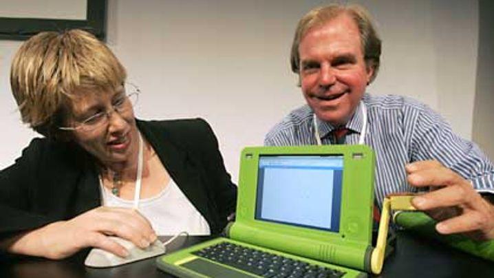 100-Dollar-Laptop: High-Tech mit Handkurbel