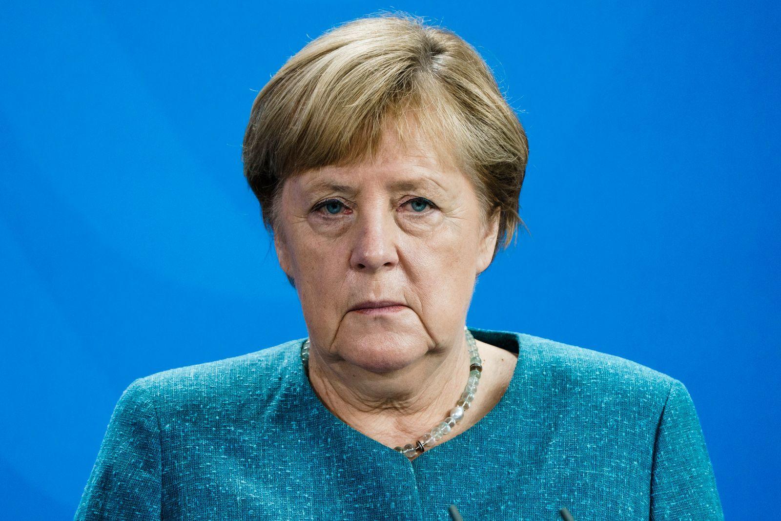 German Chancellor Angela Merkel receives Buber-Rosenzweig medal