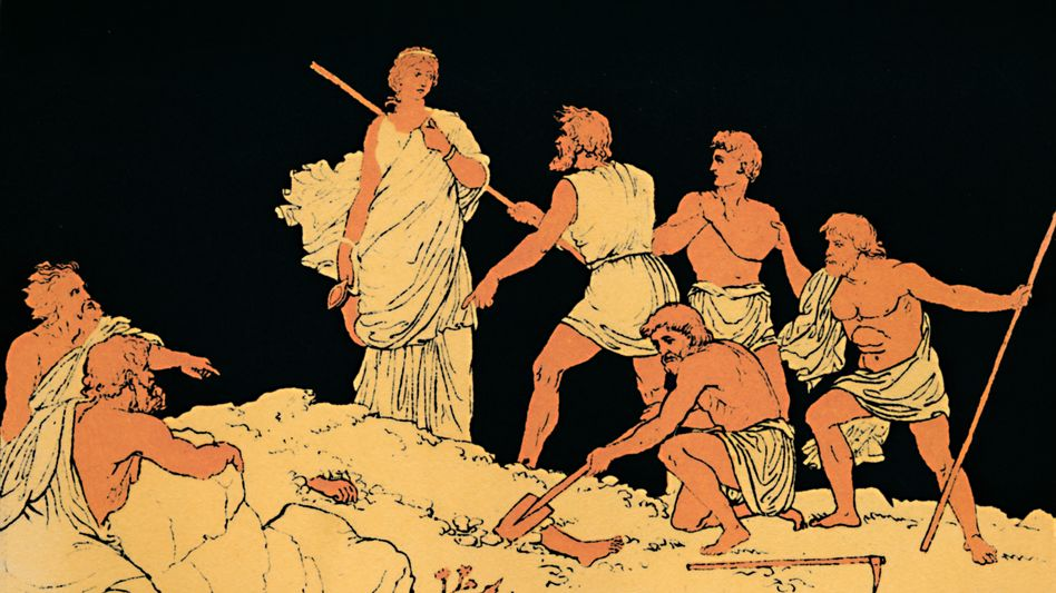 "Szene aus ""Antigone"""