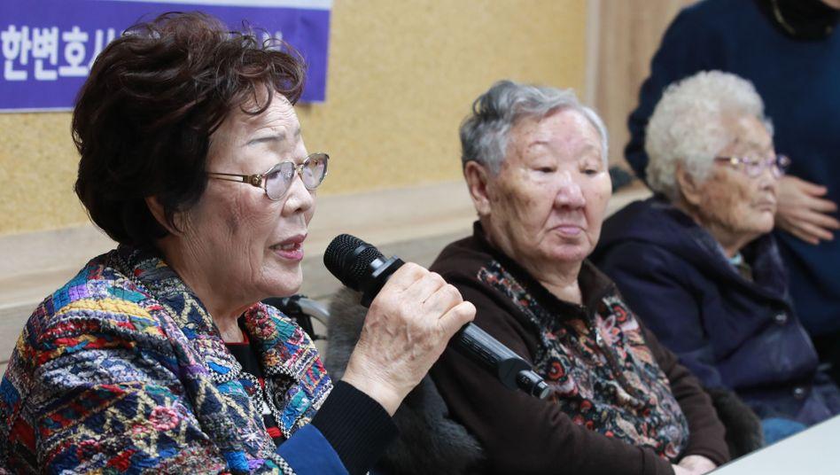 Lee Yong-soo, Kil Won-ok und Lee Ok-seun: Die Frauen aus Südkorea wurden im Zweiten Weltkrieg Opfer von Zwangsprostitution