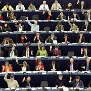 Members of the European Parliament in Strasbourg. The commute from Brussels is damaging the environment -- and the EU's credibility, green critics say.