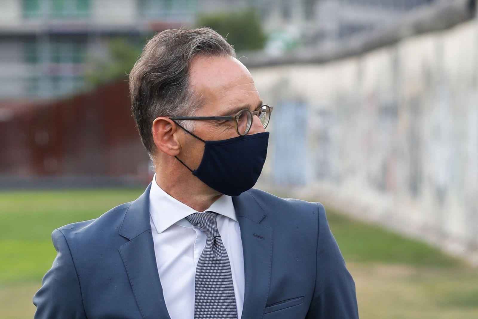 German FM Maas in quarantine, Berlin, Germany - 10 Aug 2020