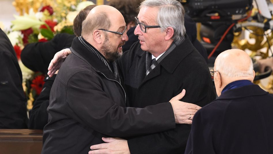 Martin Schulz (links), Jean-Claude Juncker