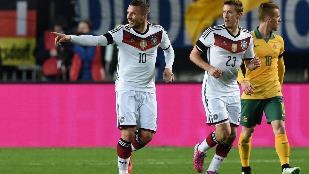 Fußball Länderspiel Deutschland Australien