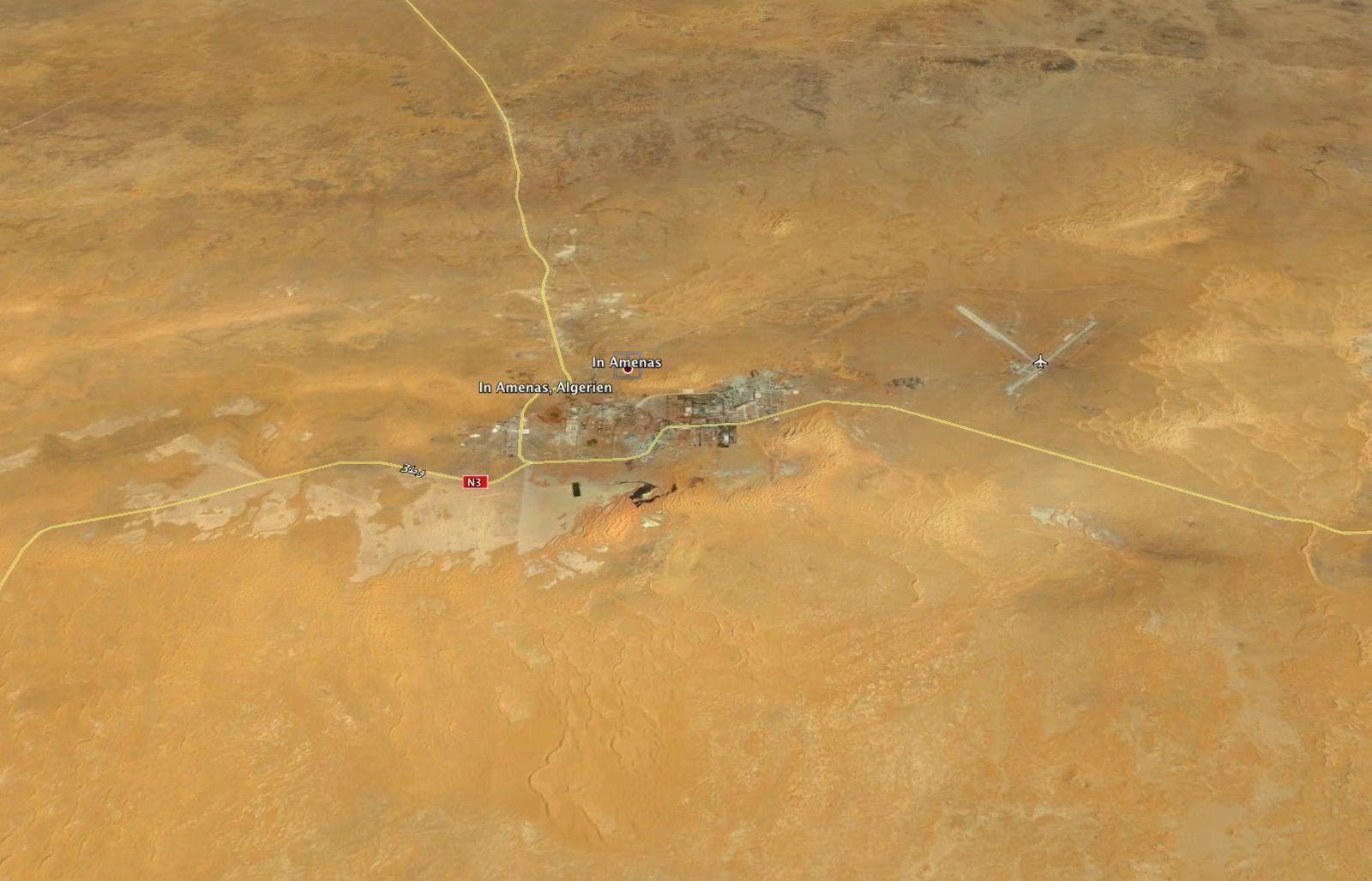 Google Earth / In Amenas / Algerien