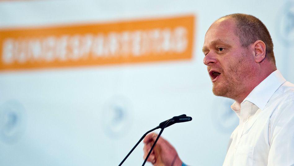 """Piraten-Chef Schlömer (Archivbild): """"Erstarrung des Parteiwesens"""""""