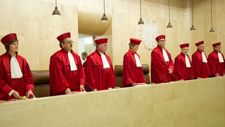 Justices on Germany's Federal Constitutional Court in Karlsruhe