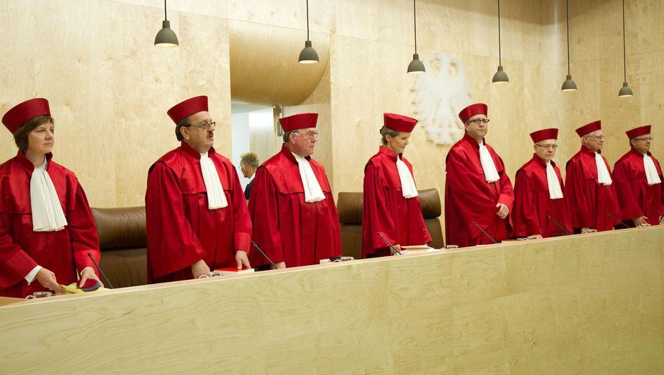 Richter am BVG (Archivbild): Sondergremium des Parlaments darf vorerst nicht entscheiden