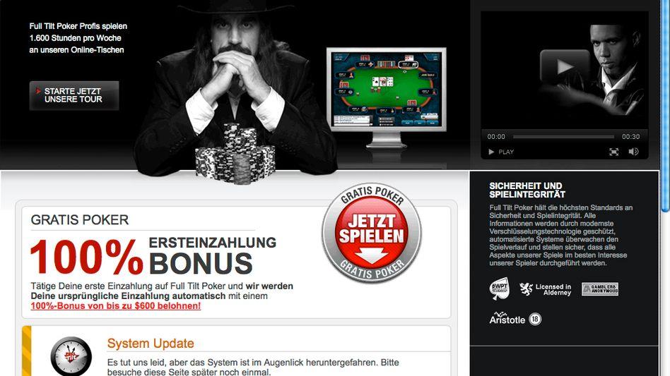 """Poker-Portal (Screenshot): """"Ein weltweites Schneeballsystem"""""""