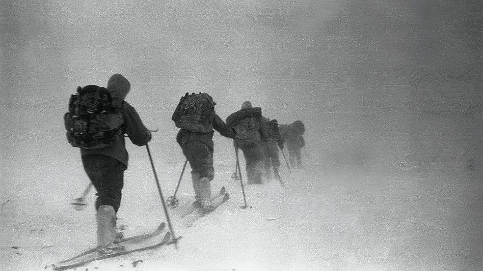 Expeditionsgruppe um Leiter Djatlow 1959: Radioaktive Spuren auf der Kleidung