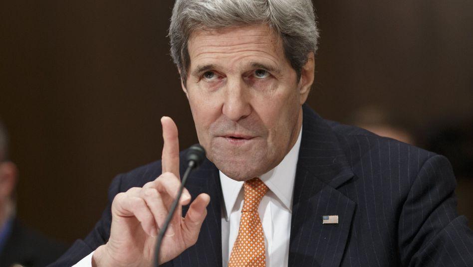 US-Außenminister Kerry: Wirft Moskau Lügen vor