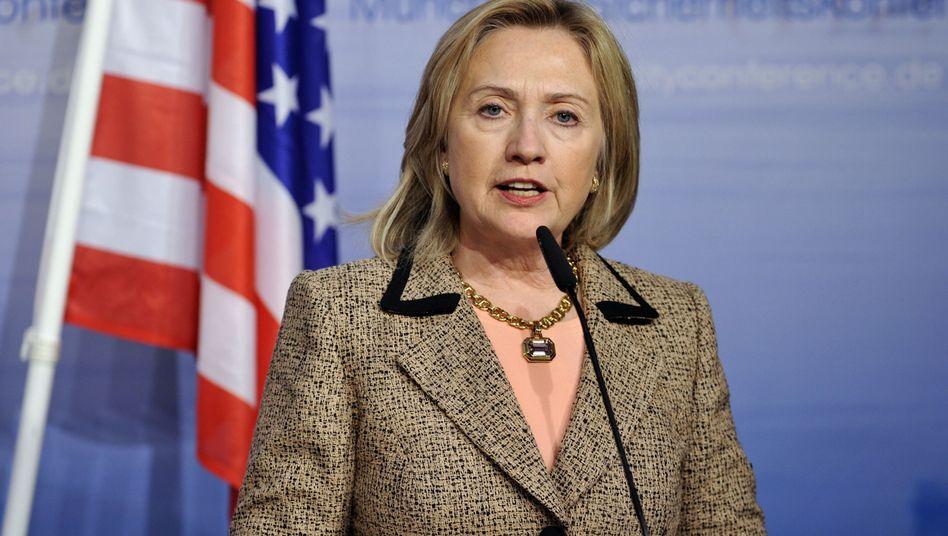 """US-Außenministerin Clinton: """"Der Status quo ist unmöglich aufrechtzuerhalten"""""""