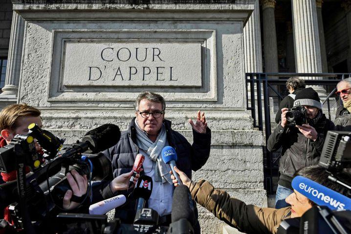 Landwirt Paul François vor dem Gericht in Lyon: Heute Biobauer
