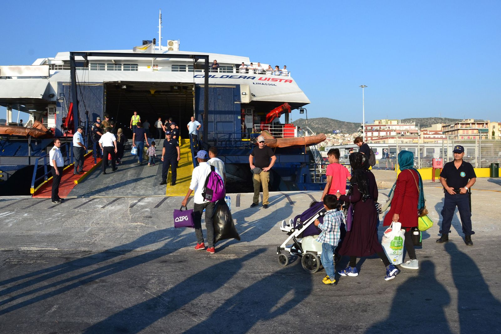 Flüchtlinge/ Griechenland/ Hafen Mytilene