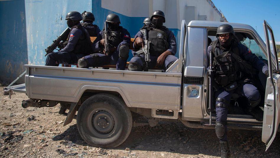 Polizisten in Haiti (Symbolbild)