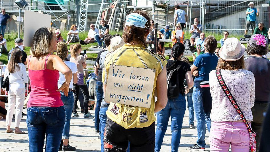 Demo gegen Corona-Regeln im bayerischen Kempten