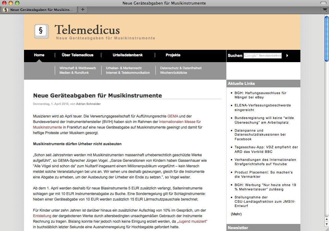 SCREENSHOT Telemedicus