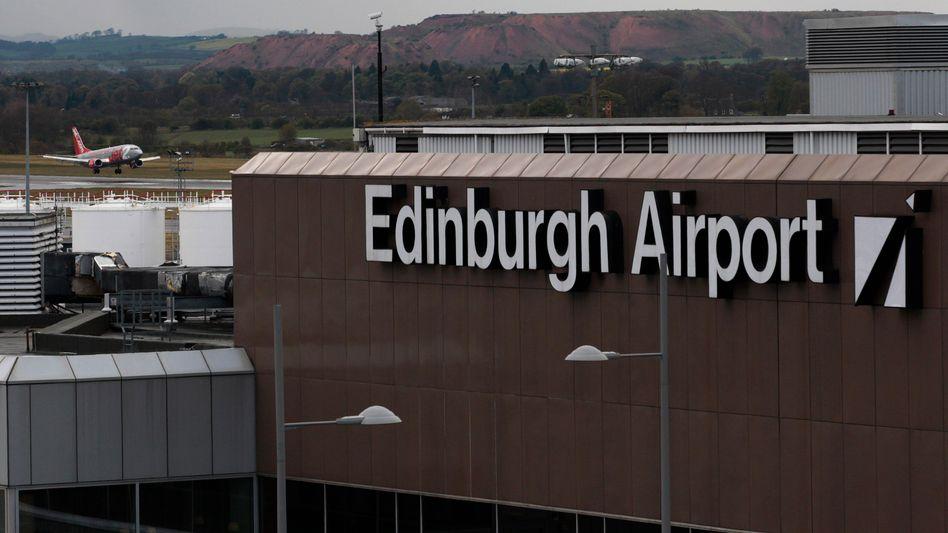 Notlandung in Edinburgh