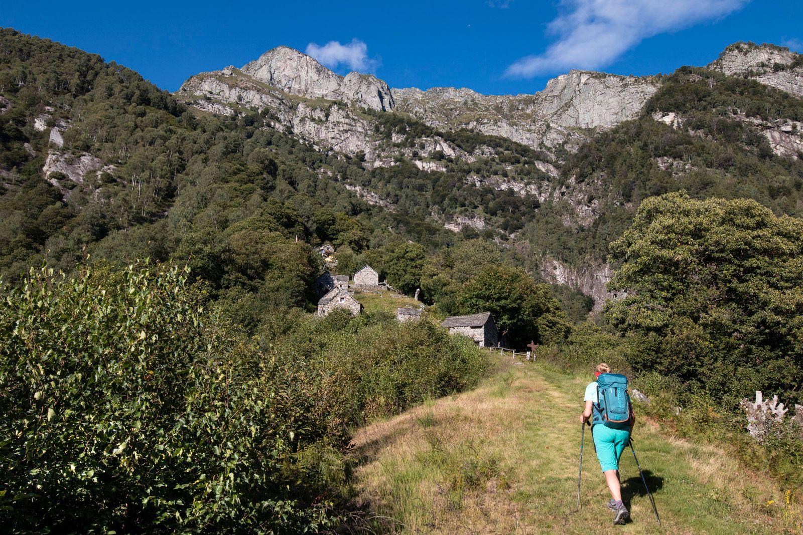 Aufstieg zur Alp Odro 1