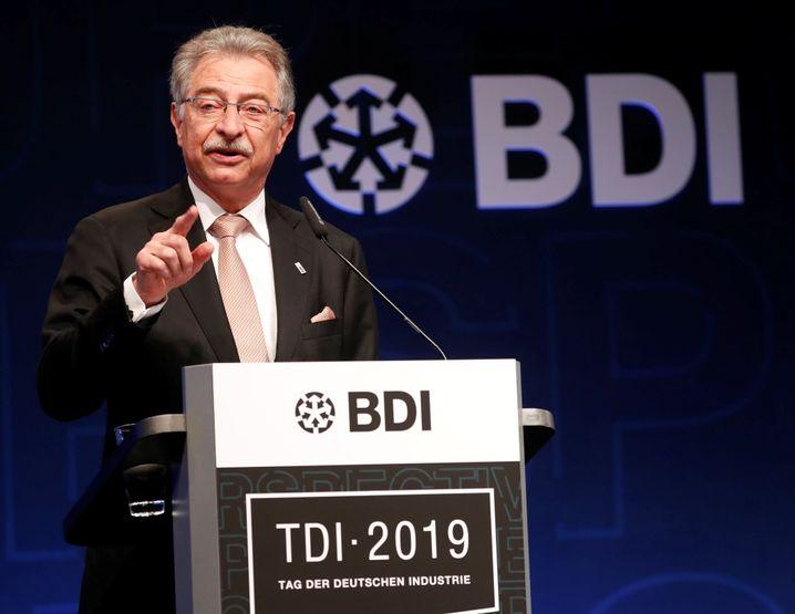 """BDI-Präsident Dieter Kempf: """"Dieses Verhalten löst keine Probleme"""""""