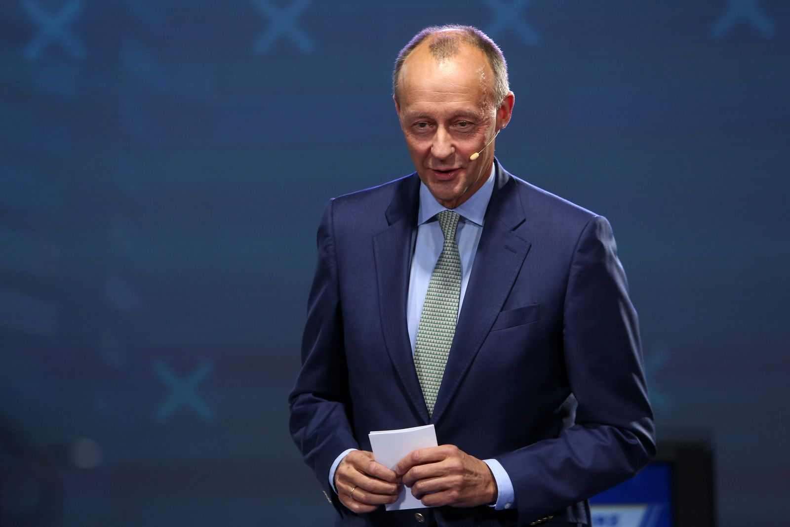 CDU Candidates Merz, Laschet And Roettgen Debate In Berlin