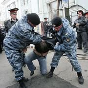 Proteste vor Estlands Botschaft in Moskau: Festnahme eines Demonstranten