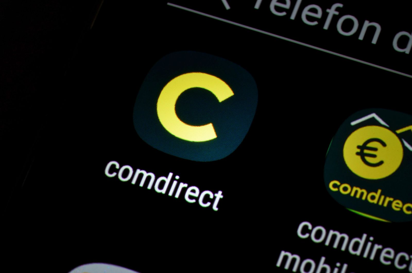 Smartphone Display App comdirect