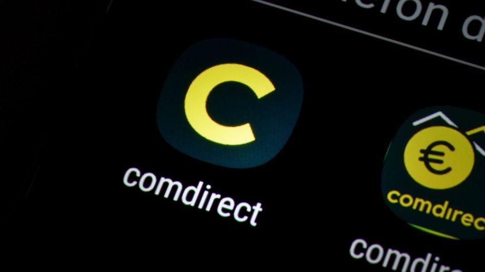 Die Comdirect-App auf einem Smartphone: Laut der Bank konnte man hier weiter problemlos die eigenen Kontoauszüge sehen