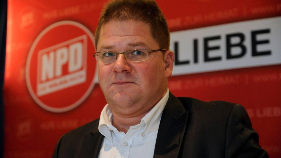 """Holger Apfel: Der NPD-Chef spricht von """"Stigmatisierung"""""""