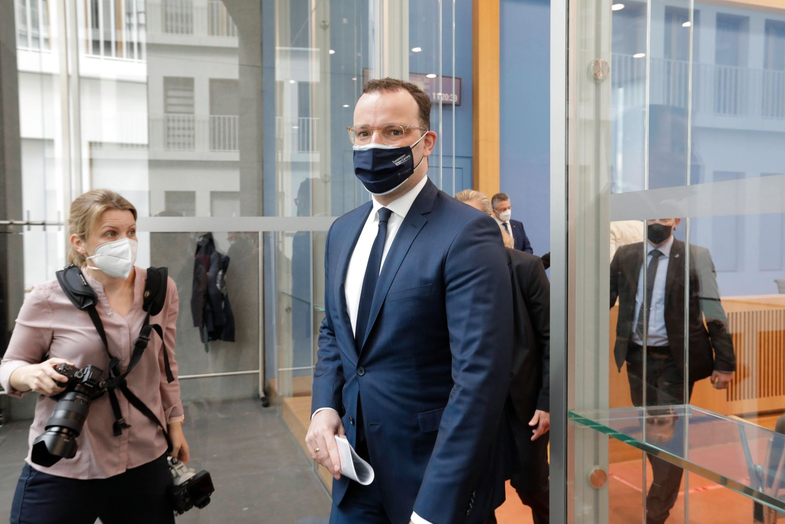 Jens Spahn, Bundesminister fuer Gesundheit, CDU, PK zu - Aktuelle Corona-Lage, DEU, Berlin, 21.05.2021 *** Jens Spahn, F
