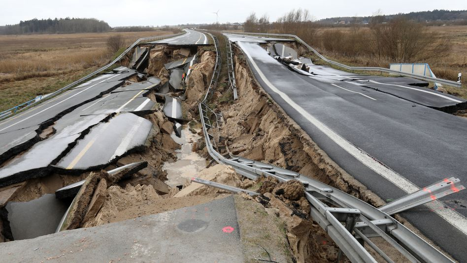 Die A20 bei Tribsees (Archiv)