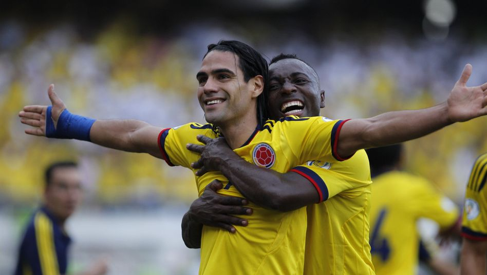 Kolumbiens Falcao: Zwei Tore für Kolumbien